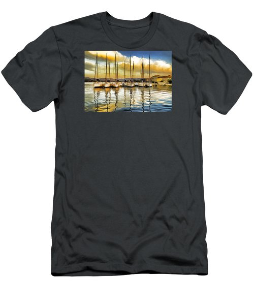 Men's T-Shirt (Slim Fit) featuring the photograph Croatia Marina by Dennis Cox WorldViews