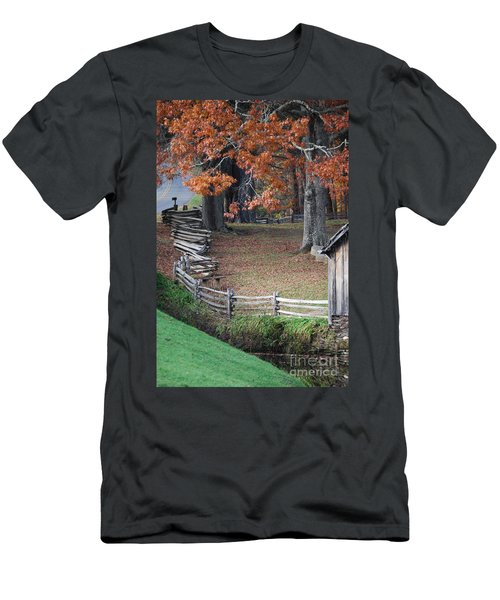 Men's T-Shirt (Slim Fit) featuring the photograph Crooked Fence by Eric Liller