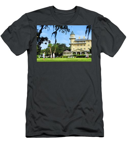 Croquet Anyone? Men's T-Shirt (Slim Fit)
