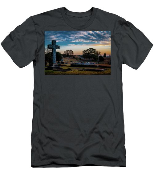 Cross At Sunset Men's T-Shirt (Athletic Fit)