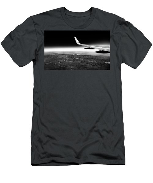 Cross Country Via Outer Space Men's T-Shirt (Athletic Fit)