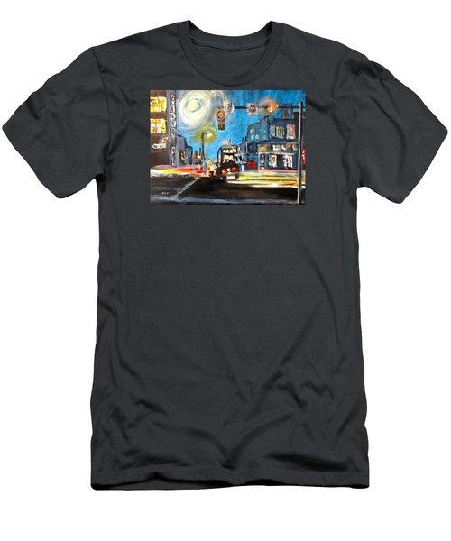 Cross Traffic Men's T-Shirt (Slim Fit) by Barbara O'Toole