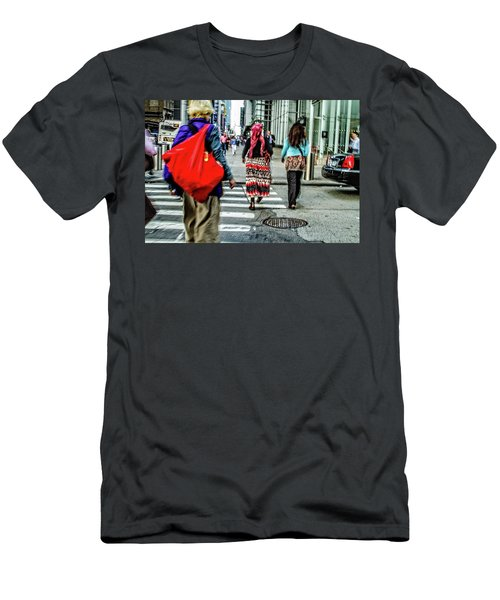 Men's T-Shirt (Slim Fit) featuring the photograph Crossing by Karol Livote