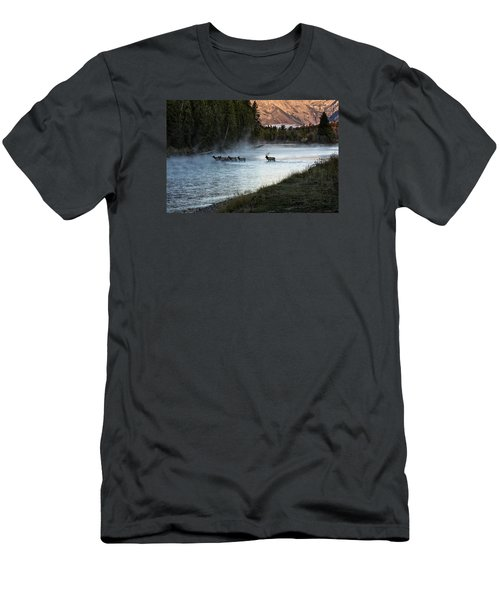 Crossing The River Men's T-Shirt (Athletic Fit)