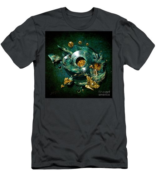 Men's T-Shirt (Slim Fit) featuring the painting Crucible by Alexa Szlavics