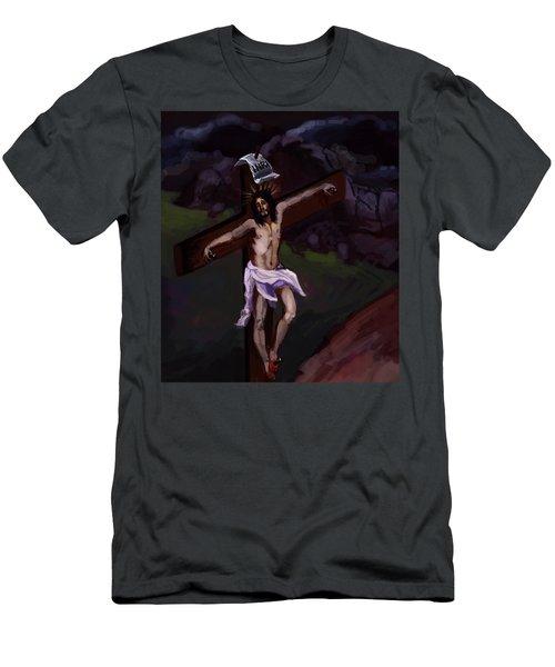 Crucifixion 2 Men's T-Shirt (Athletic Fit)