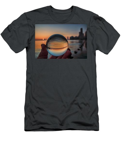 Crystal Ball On Chicago's Lakefront At Sunrise Men's T-Shirt (Athletic Fit)