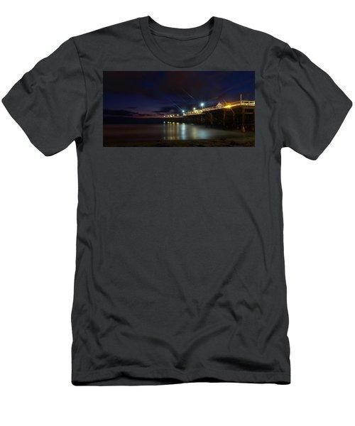 Crystal Beach Pier Blue Hour  Men's T-Shirt (Athletic Fit)