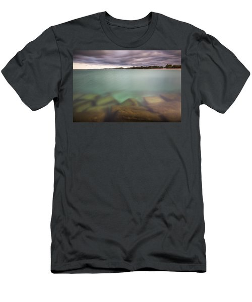 Men's T-Shirt (Slim Fit) featuring the photograph Crystal Clear Lake Michigan Waters by Adam Romanowicz