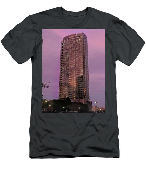 Crystal Skyscraper Sunset Men's T-Shirt (Athletic Fit)