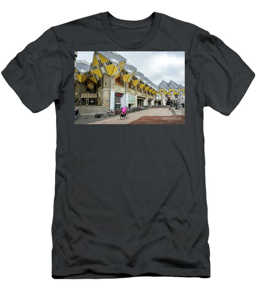Men's T-Shirt (Slim Fit) featuring the photograph Cube Houses In Rotterdam by RicardMN Photography