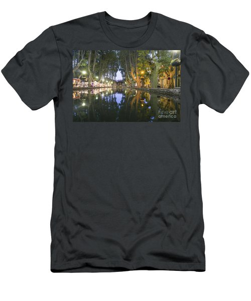 Men's T-Shirt (Athletic Fit) featuring the photograph Cucuron Village Provence  by Juergen Held