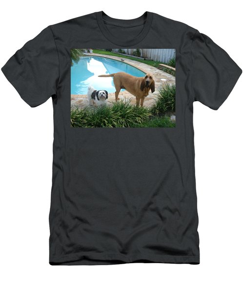 Cujo And Lucky Men's T-Shirt (Slim Fit) by Val Oconnor