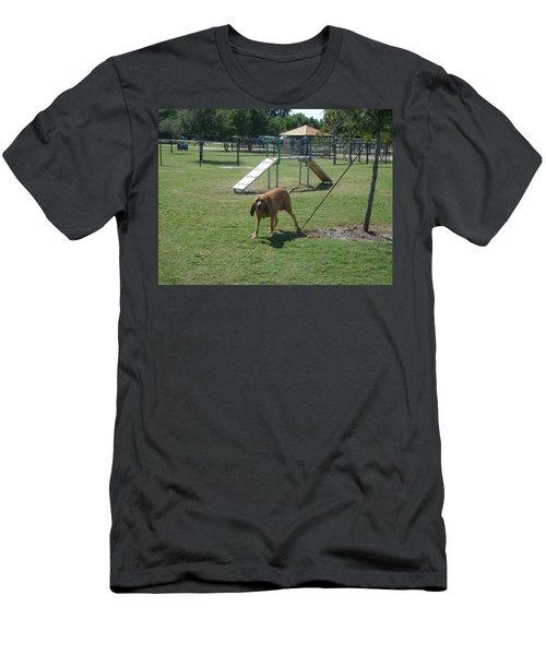 Cujo Running At The Park Men's T-Shirt (Athletic Fit)
