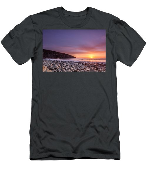 Cullernose Point At Sunrise Men's T-Shirt (Athletic Fit)