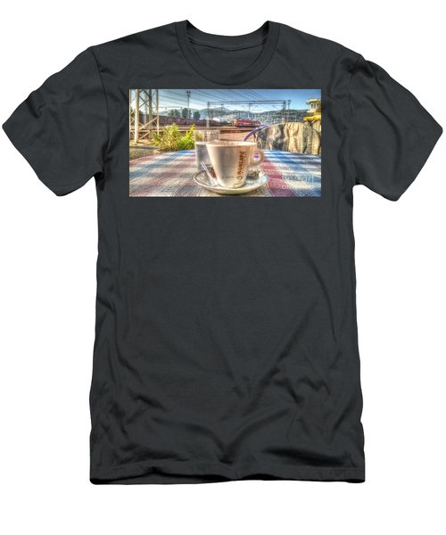 Cup Of Coffee On A Sunny Day Men's T-Shirt (Athletic Fit)