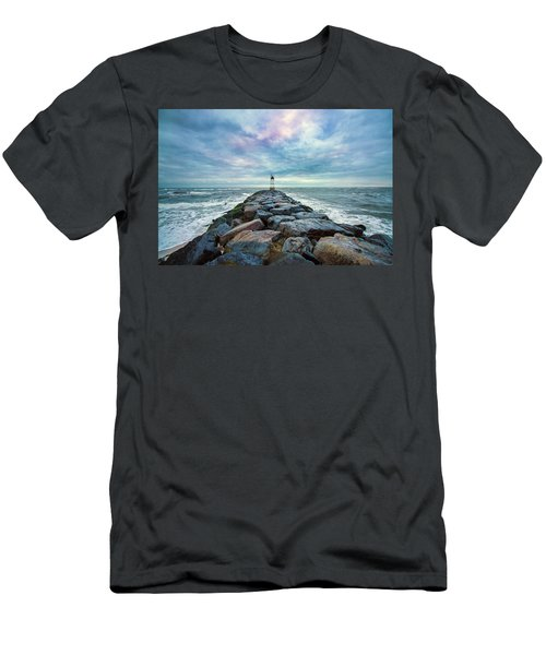 Cupsogue Clouds At Dusk Men's T-Shirt (Athletic Fit)
