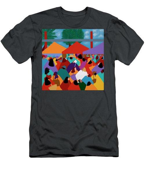 Curacao Market Men's T-Shirt (Athletic Fit)