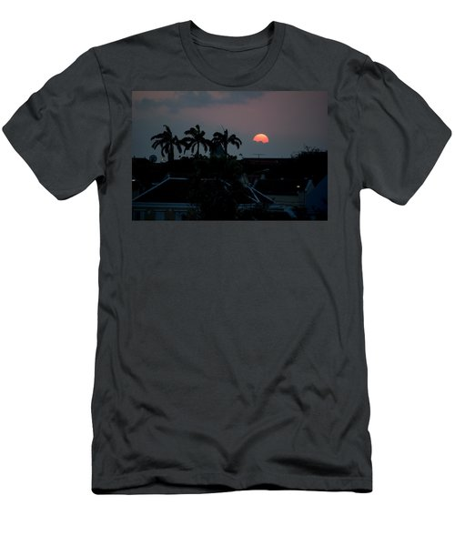 Curacao Sun Rise Men's T-Shirt (Slim Fit) by Allen Carroll