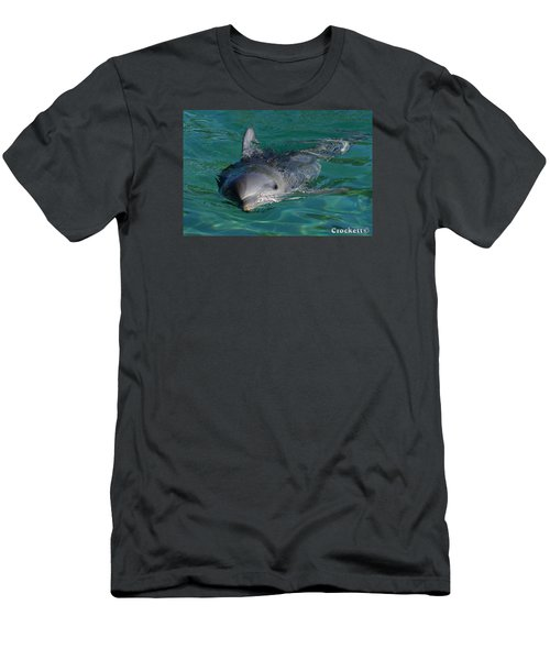 Men's T-Shirt (Slim Fit) featuring the photograph Curious Dolphin by Gary Crockett