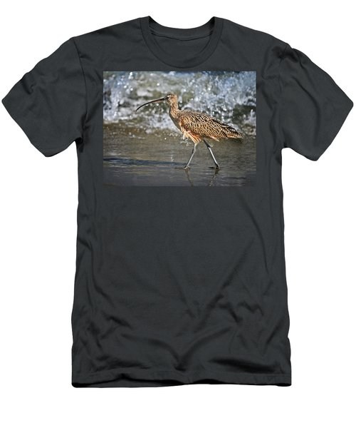 Men's T-Shirt (Slim Fit) featuring the photograph Curlew And Tides by William Lee