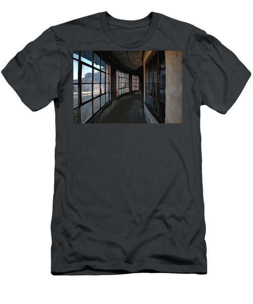 Men's T-Shirt (Athletic Fit) featuring the photograph Curved Hallway by Tom Singleton