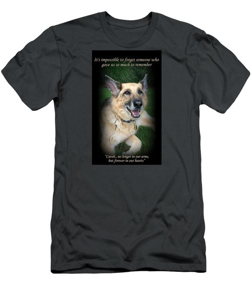 Custom Paw Print Cavot Men's T-Shirt (Athletic Fit)