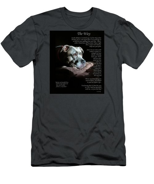 Custom Paw Print Rocky Men's T-Shirt (Athletic Fit)