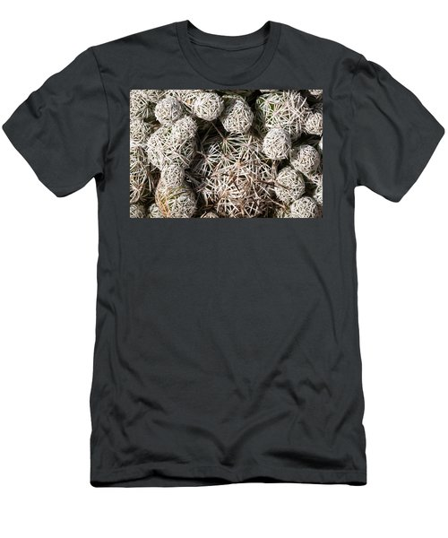 Men's T-Shirt (Slim Fit) featuring the photograph Cute Cactus Ball by Catherine Lau