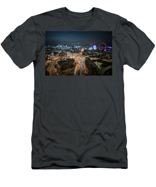 Men's T-Shirt (Athletic Fit) featuring the photograph Cyber City by Stewart Marsden