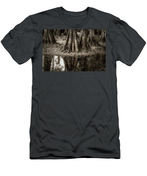 Cypress Island Men's T-Shirt (Slim Fit) by Andy Crawford