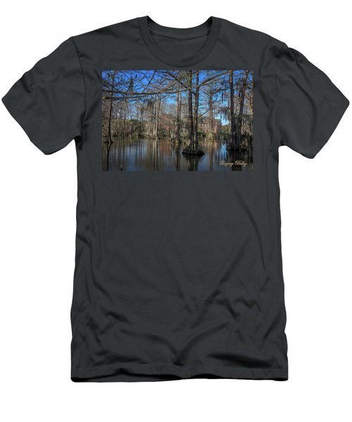 Men's T-Shirt (Slim Fit) featuring the photograph Cyprus Lake 2 by Gregory Daley  PPSA