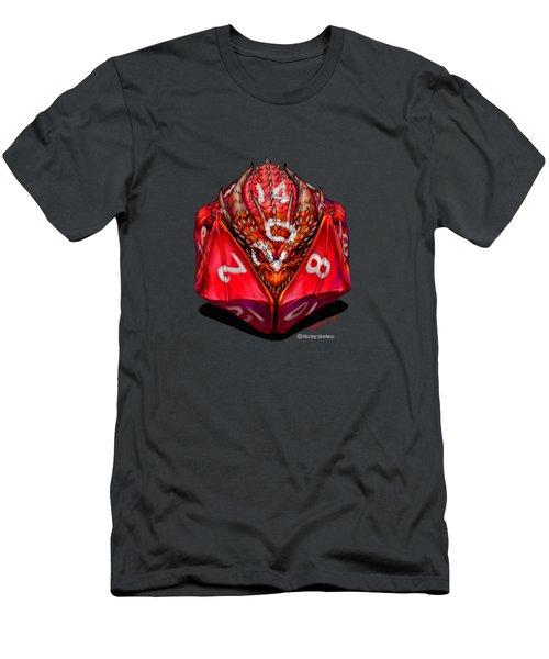 D20 Dragon T Shirt Men's T-Shirt (Slim Fit) by Stanley Morrison