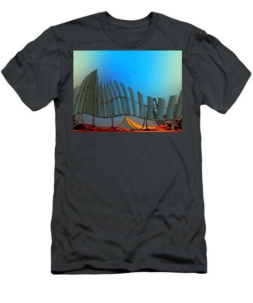 Da Vinci's Outpost Men's T-Shirt (Slim Fit) by Wendy J St Christopher