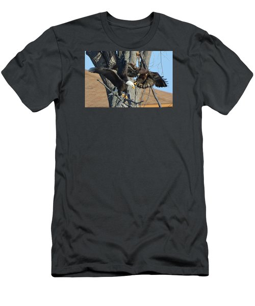 Men's T-Shirt (Slim Fit) featuring the photograph Dad And Junior With Fish by Coby Cooper
