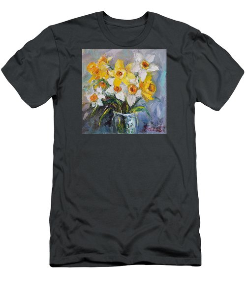 Daffodil In Spring  Men's T-Shirt (Slim Fit) by Jennifer Beaudet