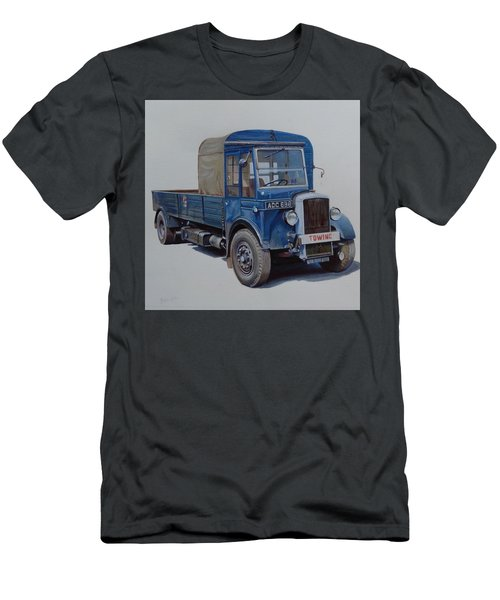 Men's T-Shirt (Slim Fit) featuring the painting Daimler Wrecker Btc by Mike Jeffries