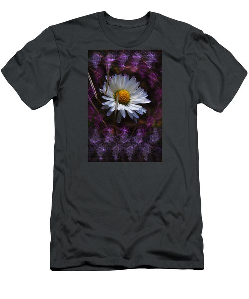 Men's T-Shirt (Slim Fit) featuring the photograph Dainty Daisy by Adria Trail