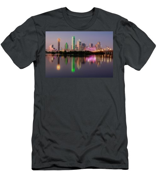 Dallas City Reflection Men's T-Shirt (Athletic Fit)