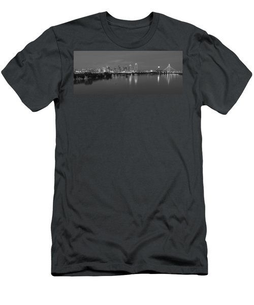 Dallas Skyline Trinity Black And White Men's T-Shirt (Athletic Fit)