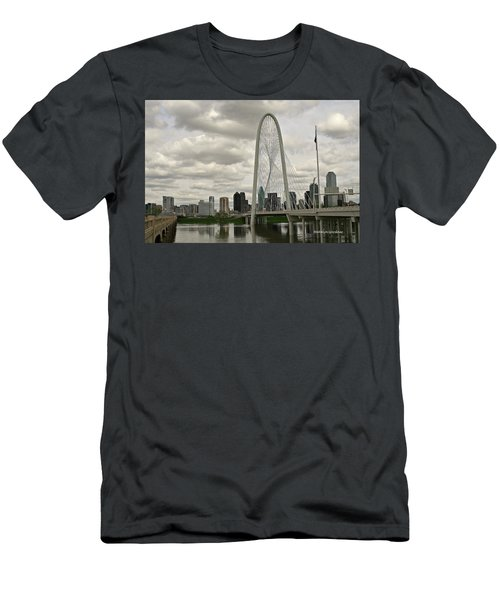 Dallas Suspension Bridge Men's T-Shirt (Athletic Fit)