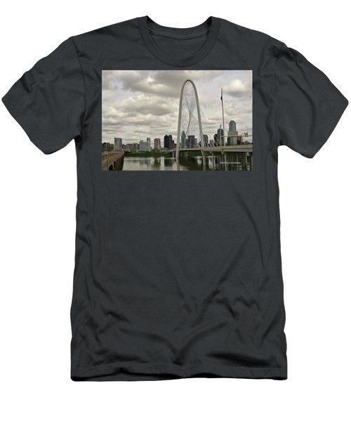 Dallas Suspension Bridge Men's T-Shirt (Athletic Fit)