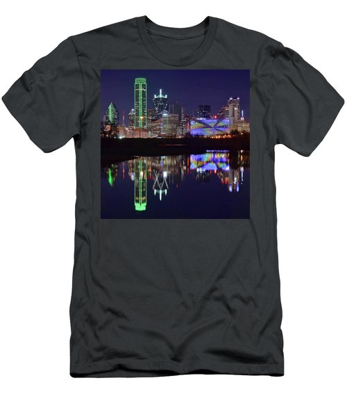 Men's T-Shirt (Slim Fit) featuring the photograph Dallas Texas Squared by Frozen in Time Fine Art Photography