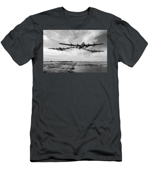 Dambusters Practising Low Level Flying Bw Version Men's T-Shirt (Athletic Fit)