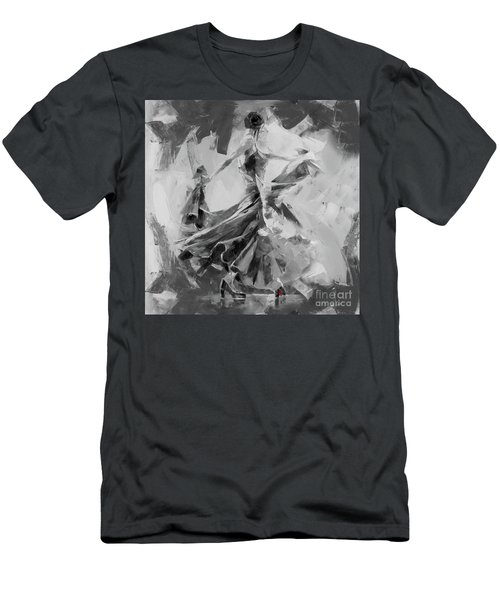 Men's T-Shirt (Slim Fit) featuring the painting Dance Flamenco 01 by Gull G