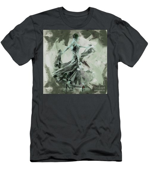 Men's T-Shirt (Slim Fit) featuring the painting Dance Flamenco Art  by Gull G