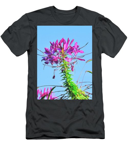 Men's T-Shirt (Athletic Fit) featuring the photograph Dancing Cleome by Debbie Stahre