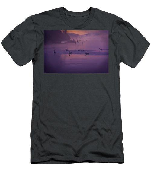 Dancing Geese Men's T-Shirt (Athletic Fit)