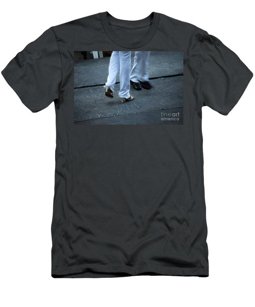 Dancing Feet At The Dominican Republic Son Party Number One Men's T-Shirt (Slim Fit) by Heather Kirk