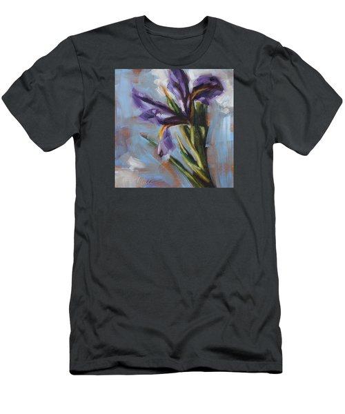 Dancing Iris Men's T-Shirt (Slim Fit) by Tracy Male